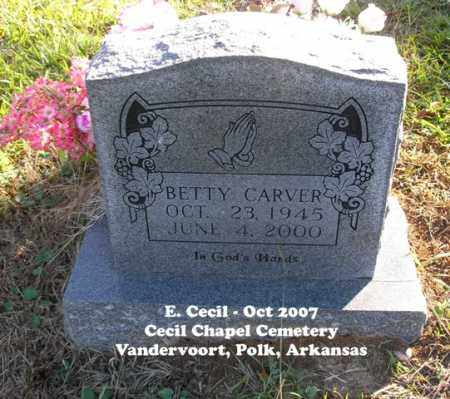 CARVER, BETTY - Polk County, Arkansas | BETTY CARVER - Arkansas Gravestone Photos