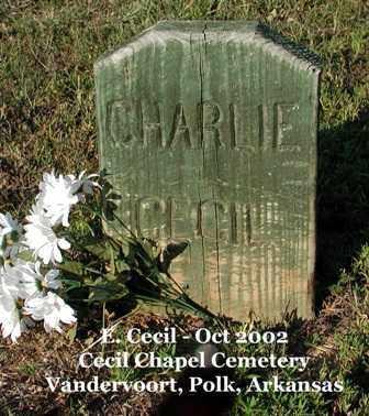CECIL, CHARLIE - Polk County, Arkansas | CHARLIE CECIL - Arkansas Gravestone Photos