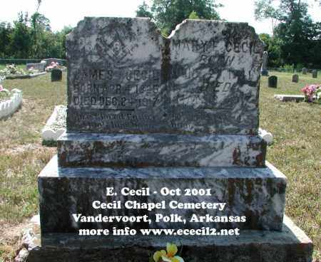 CECIL, JAMES - Polk County, Arkansas | JAMES CECIL - Arkansas Gravestone Photos