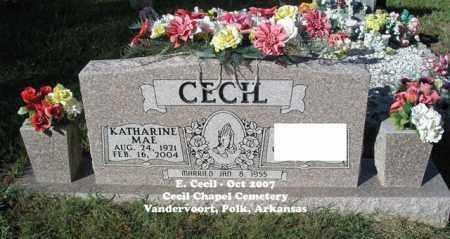 CECIL, KATHARINE MAE - Polk County, Arkansas | KATHARINE MAE CECIL - Arkansas Gravestone Photos