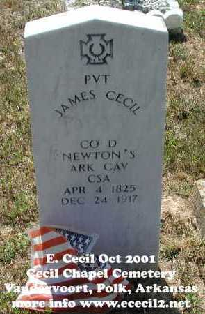 CECIL (VETERAN CSA), JAMES - Polk County, Arkansas | JAMES CECIL (VETERAN CSA) - Arkansas Gravestone Photos