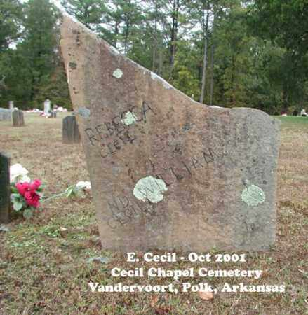 CECIL, REBECCA - Polk County, Arkansas | REBECCA CECIL - Arkansas Gravestone Photos