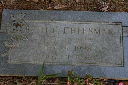CHEESMAN, BETH E. - Polk County, Arkansas | BETH E. CHEESMAN - Arkansas Gravestone Photos