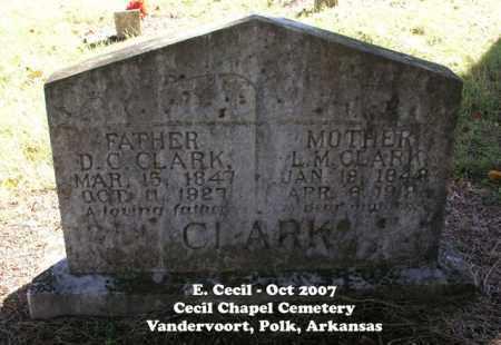 CLARK, D. C. - Polk County, Arkansas | D. C. CLARK - Arkansas Gravestone Photos