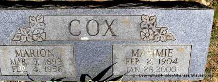 COX, MAMMIE - Polk County, Arkansas | MAMMIE COX - Arkansas Gravestone Photos