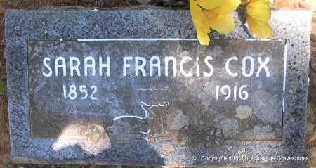COX, SARAH FRANCIS - Polk County, Arkansas | SARAH FRANCIS COX - Arkansas Gravestone Photos