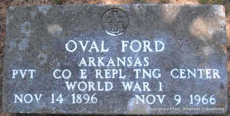 FORD (VETERAN WWI), OVAL - Polk County, Arkansas | OVAL FORD (VETERAN WWI) - Arkansas Gravestone Photos