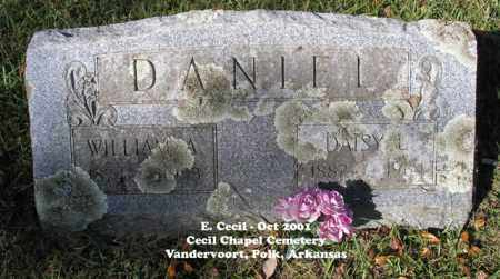 DANIEL, WILLIAM A. - Polk County, Arkansas | WILLIAM A. DANIEL - Arkansas Gravestone Photos