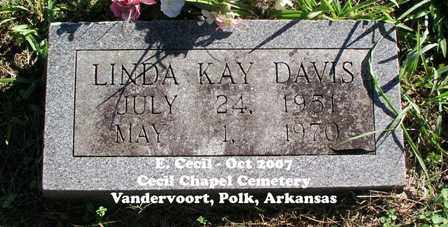 DAVIS, LINDA KAY - Polk County, Arkansas | LINDA KAY DAVIS - Arkansas Gravestone Photos