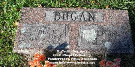 DUGAN, JOHN FRANK - Polk County, Arkansas | JOHN FRANK DUGAN - Arkansas Gravestone Photos