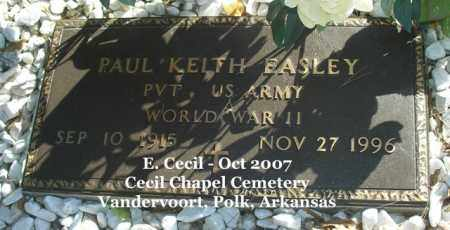EASLEY (VETERAN WWII), PAUL KEITH - Polk County, Arkansas | PAUL KEITH EASLEY (VETERAN WWII) - Arkansas Gravestone Photos