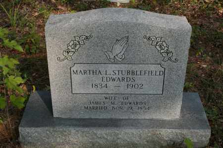 EDWARDS, MARTHA L. STUBBLEFIELD - Polk County, Arkansas | MARTHA L. STUBBLEFIELD EDWARDS - Arkansas Gravestone Photos