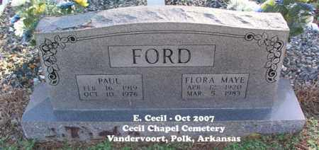 FORD, FLORA MAYE - Polk County, Arkansas | FLORA MAYE FORD - Arkansas Gravestone Photos