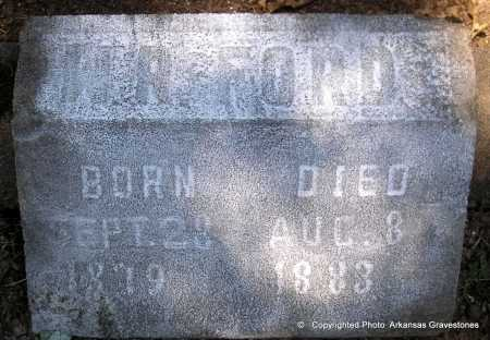 FORD, W  R - Polk County, Arkansas | W  R FORD - Arkansas Gravestone Photos