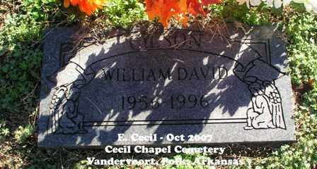GILSON, WILLIAM DAVID - Polk County, Arkansas | WILLIAM DAVID GILSON - Arkansas Gravestone Photos