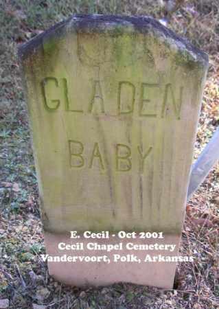 GLADEN, BABY - Polk County, Arkansas | BABY GLADEN - Arkansas Gravestone Photos