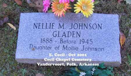 GLADEN, NELLIE M. - Polk County, Arkansas | NELLIE M. GLADEN - Arkansas Gravestone Photos