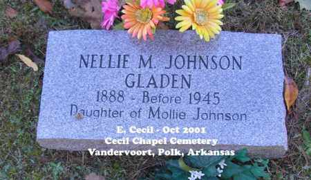 JOHNSON GLADEN, NELLIE M. - Polk County, Arkansas | NELLIE M. JOHNSON GLADEN - Arkansas Gravestone Photos