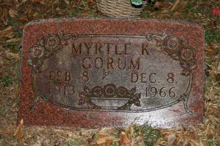 GORUM, MYRTLE K. - Polk County, Arkansas | MYRTLE K. GORUM - Arkansas Gravestone Photos