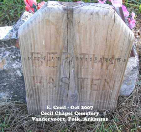 HASTEN, BERTHA - Polk County, Arkansas | BERTHA HASTEN - Arkansas Gravestone Photos