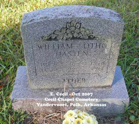 HASTEN, WILLIAM OTHO - Polk County, Arkansas | WILLIAM OTHO HASTEN - Arkansas Gravestone Photos