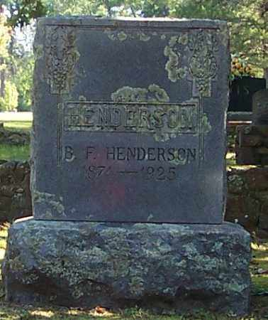 HENDERSON, B. F. - Polk County, Arkansas | B. F. HENDERSON - Arkansas Gravestone Photos