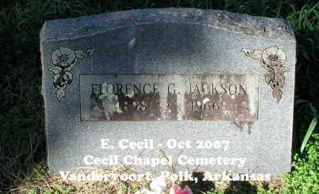 JACKSON, FLORENCE G. - Polk County, Arkansas | FLORENCE G. JACKSON - Arkansas Gravestone Photos