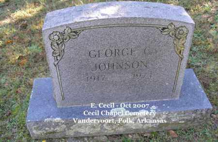 JOHNSON, GEORGE C. - Polk County, Arkansas | GEORGE C. JOHNSON - Arkansas Gravestone Photos