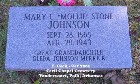 "STONE JOHNSON, MARY L. ""MOLLIE"" - Polk County, Arkansas 