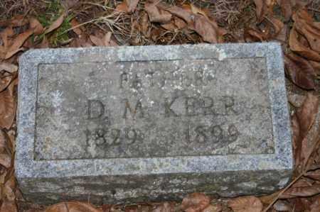KERR, D.M. - Polk County, Arkansas | D.M. KERR - Arkansas Gravestone Photos