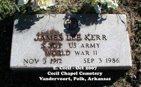 KERR (VETERAN WWII), JAMES LEE - Polk County, Arkansas | JAMES LEE KERR (VETERAN WWII) - Arkansas Gravestone Photos