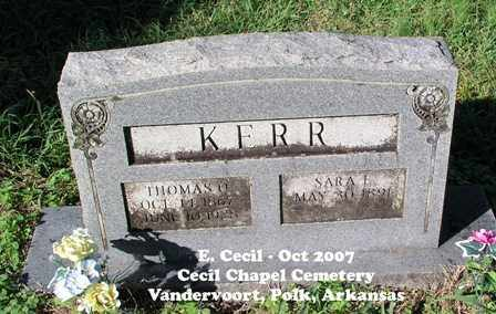 KERR, THOMAS O. - Polk County, Arkansas | THOMAS O. KERR - Arkansas Gravestone Photos