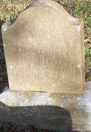 LAMBERT, J.E. - Polk County, Arkansas | J.E. LAMBERT - Arkansas Gravestone Photos