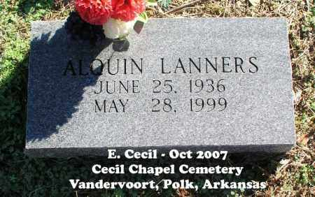 LANNERS, ALQUIN - Polk County, Arkansas | ALQUIN LANNERS - Arkansas Gravestone Photos