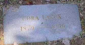 LAUCK, CORA - Polk County, Arkansas | CORA LAUCK - Arkansas Gravestone Photos
