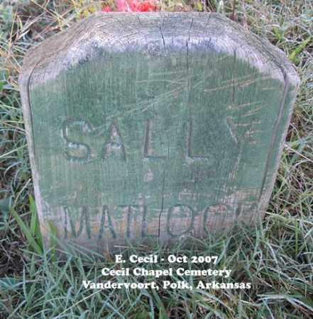 MATLOCK, SALLY - Polk County, Arkansas | SALLY MATLOCK - Arkansas Gravestone Photos