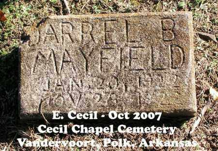 MAYFIELD, DARREL B. - Polk County, Arkansas | DARREL B. MAYFIELD - Arkansas Gravestone Photos
