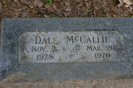 MCCALLIE, DALE - Polk County, Arkansas | DALE MCCALLIE - Arkansas Gravestone Photos