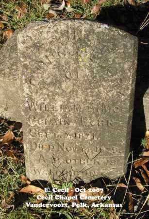 MCCLAIN, WILLIAM R. - Polk County, Arkansas | WILLIAM R. MCCLAIN - Arkansas Gravestone Photos