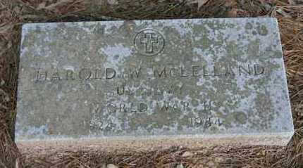 MCLELLAND (VETERAN WWII), HAROLD W. - Polk County, Arkansas | HAROLD W. MCLELLAND (VETERAN WWII) - Arkansas Gravestone Photos