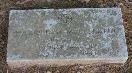 MCLELLAND (VETERAN WWII), HAROLD W. - Polk County, Arkansas   HAROLD W. MCLELLAND (VETERAN WWII) - Arkansas Gravestone Photos