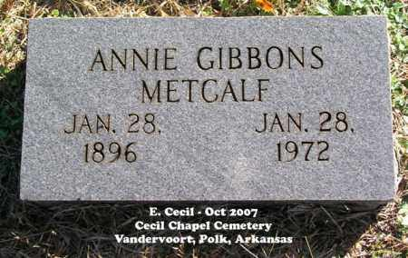 METCALF, ANNIE - Polk County, Arkansas | ANNIE METCALF - Arkansas Gravestone Photos