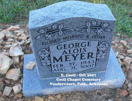 MEYER, GEORGE ALOIS - Polk County, Arkansas | GEORGE ALOIS MEYER - Arkansas Gravestone Photos