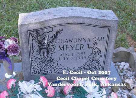 MEYER, JUAWONNA GAIL - Polk County, Arkansas | JUAWONNA GAIL MEYER - Arkansas Gravestone Photos