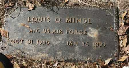 MINDL (VETERAN), LOUIS Q - Polk County, Arkansas | LOUIS Q MINDL (VETERAN) - Arkansas Gravestone Photos