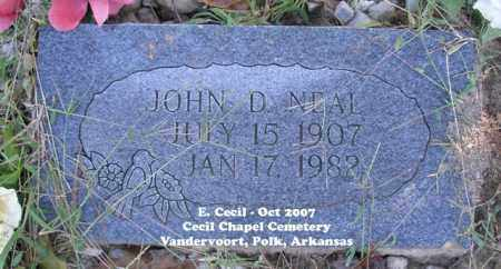NEAL, JOHN D. - Polk County, Arkansas | JOHN D. NEAL - Arkansas Gravestone Photos