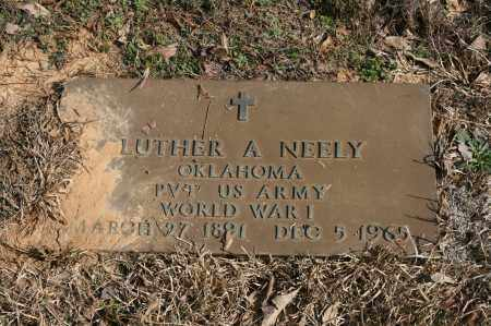 NEELY (VETERAN WWI), LUTHER A - Polk County, Arkansas | LUTHER A NEELY (VETERAN WWI) - Arkansas Gravestone Photos