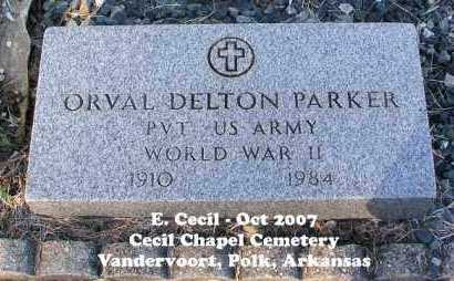 PARKER (VETERAN WWII), ORVAL DELTON - Polk County, Arkansas | ORVAL DELTON PARKER (VETERAN WWII) - Arkansas Gravestone Photos