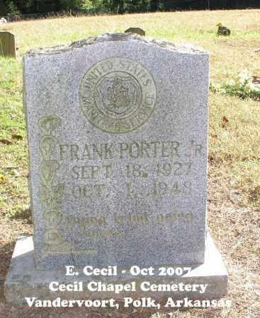 PORTER, FRANK - Polk County, Arkansas | FRANK PORTER - Arkansas Gravestone Photos