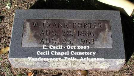 PORTER, W. FRANK - Polk County, Arkansas | W. FRANK PORTER - Arkansas Gravestone Photos